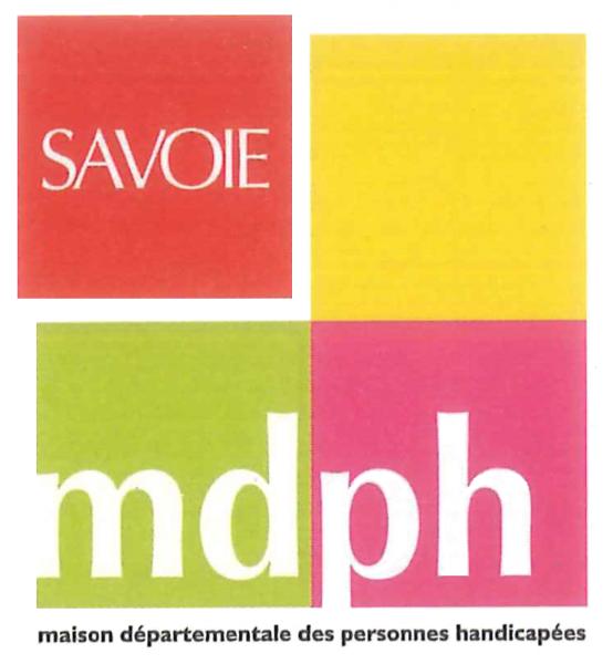 Logo MDPH de la savoie blanc